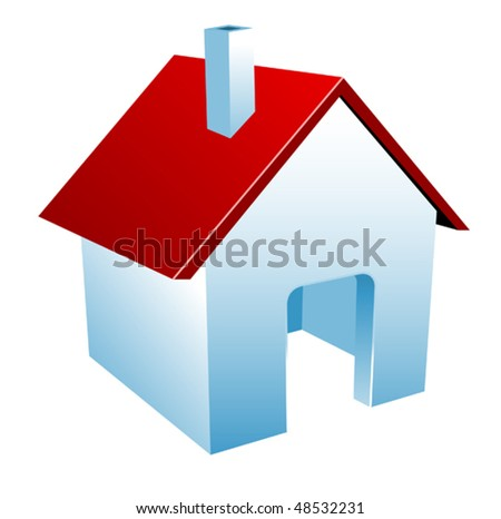 House icon isolated on white as a symbol of real estate. Jpeg version is also available