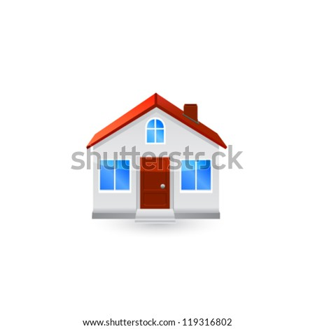 House icon isolated on white background. Vector - stock vector