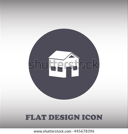 House icon. Rounded button. Vector Illustration - stock vector