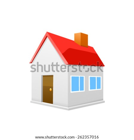 House icon set isolated on white background. Vector