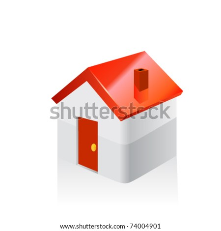 House Icon. Vector - stock vector