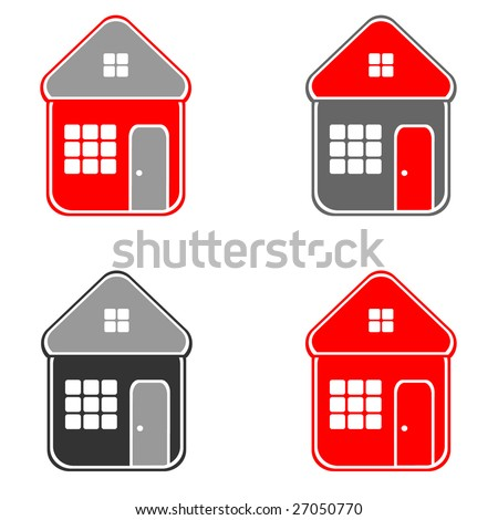 House. Icons. Vector. - stock vector