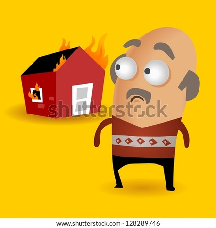 House insurance is important. Vector illustration - stock vector