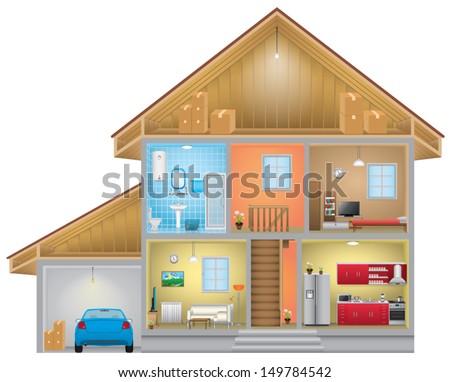 House interior - stock vector