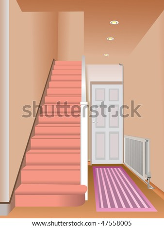 House interior vector - stock vector
