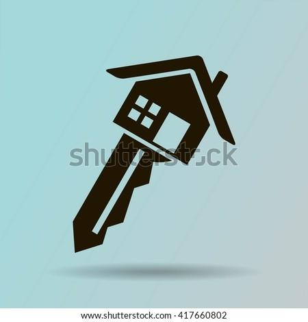 house key vector icon - stock vector