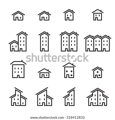 house line icon - stock vector
