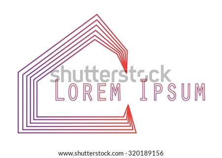 House Logo Blend Mode Editable. Design Template  - stock vector
