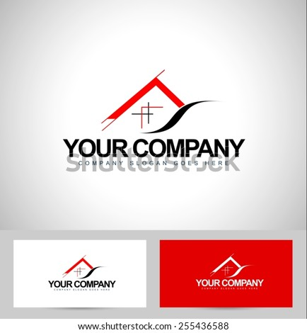 House logo design architecture concept business stock vector architecture concept with business card templateal estate icon design reheart Image collections