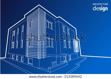 House model  - stock vector