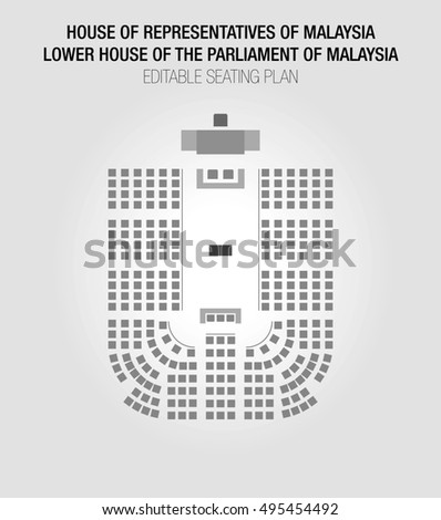 House Of Representatives Of Malaysia. Lower House Of The Parliament Of  Malaysia. Chamber Of