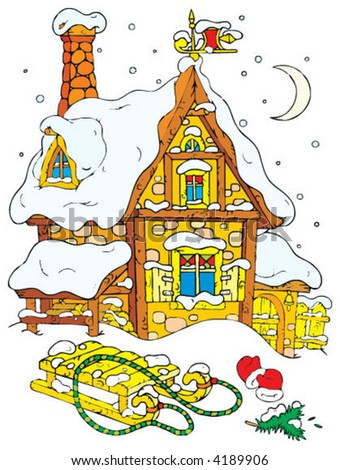 House of Santa Clause - stock vector