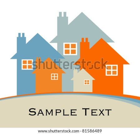 House or real estate illustration. - stock vector
