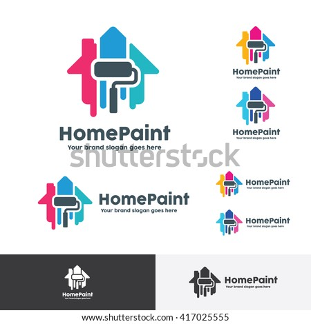House Paint Logo, Home Decoration Company Identity