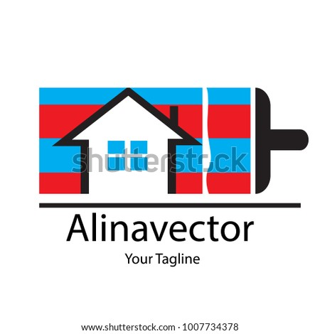 house paint logo vector wall cat เวกเตอร สต อก 1007734378 shutterstock