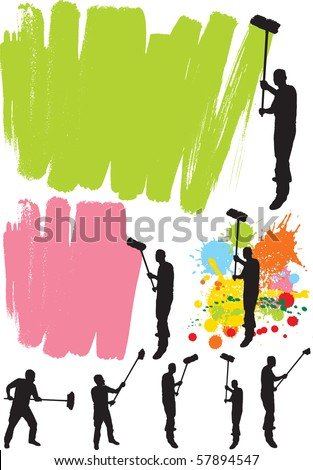 House painter - stock vector