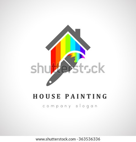 Painter stock images royalty free images vectors for Painting and decorating logo ideas
