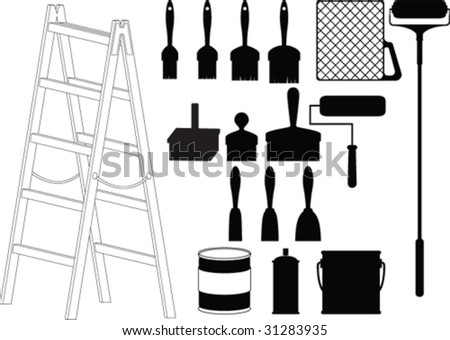 House painter tool vector - stock vector