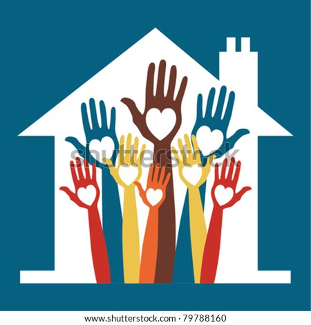 House party design. - stock vector