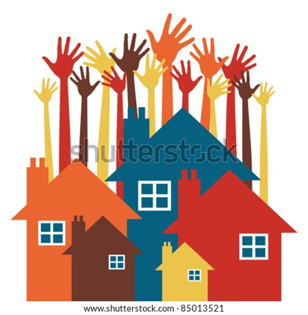 House party or property search design. - stock vector