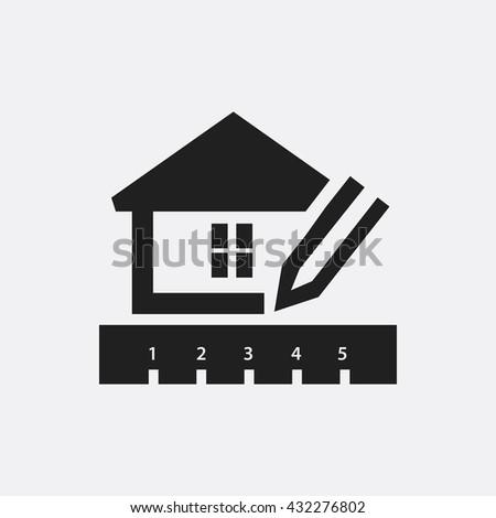 House planning Icon, House planning Icon Eps10, House planning Icon Vector, House planning Icon Eps, House planning Icon Jpg, House planning Icon, House planning Icon Flat, House planning Icon App - stock vector