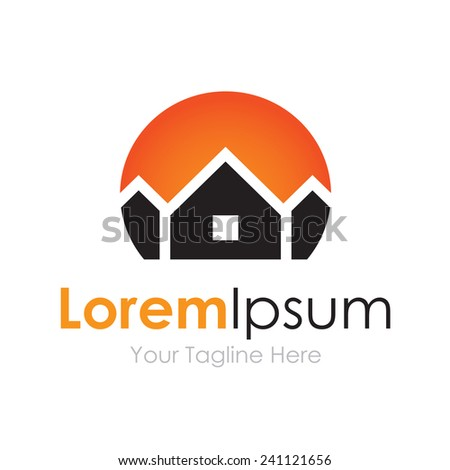 House prime real estate business logo element icon  - stock vector