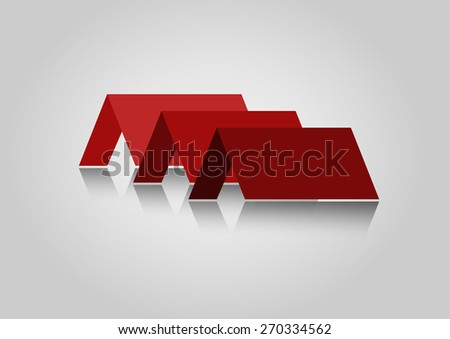 House Real Estate red  logo icon design