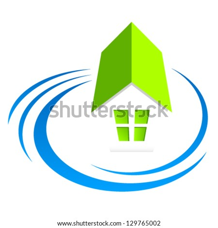 house, real estate sign - vector illustration - stock vector