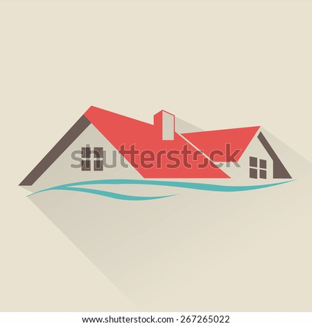 House rental icon - stock vector