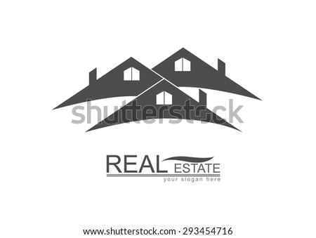 House  Roof Real Estate logo design - stock vector