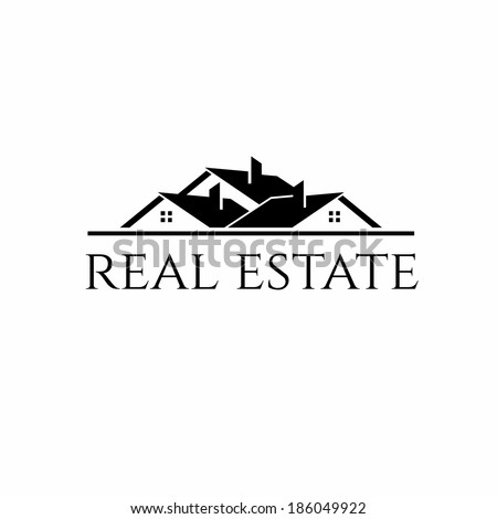 House roofs  for real estate business - stock vector