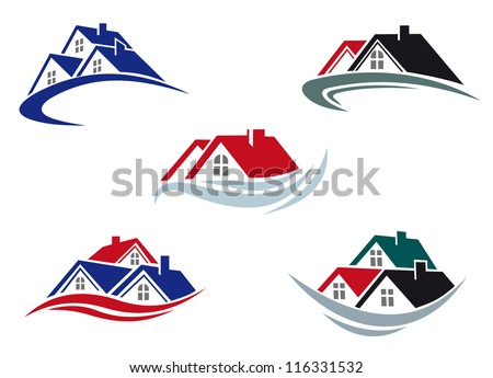 House roofs set for real estate business. Jpeg version also available in gallery