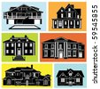 house set - stock vector