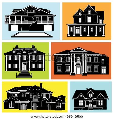 house set - stock vector