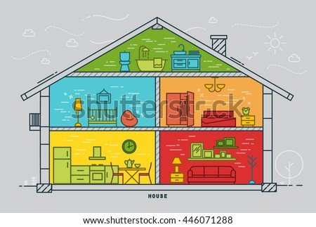 House silhouette rooms furnishings flat style stock photo photo house silhouette rooms furnishings flat style stock photo photo vector illustration 446071288 shutterstock ccuart Choice Image