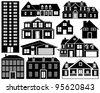 House silhouettes - stock photo