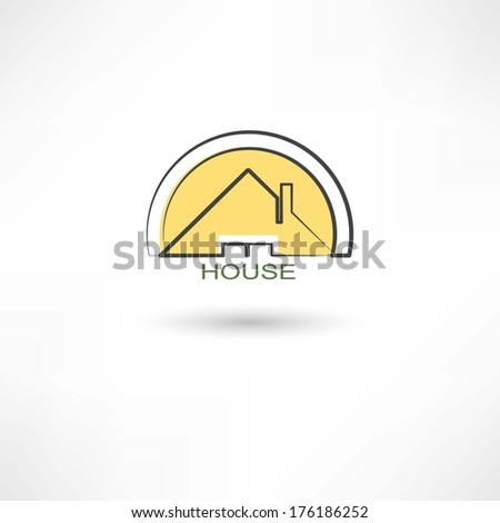 House symbol - stock vector