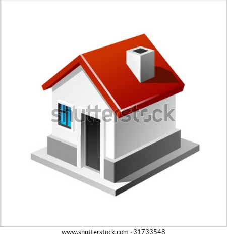 House vector icon - stock vector
