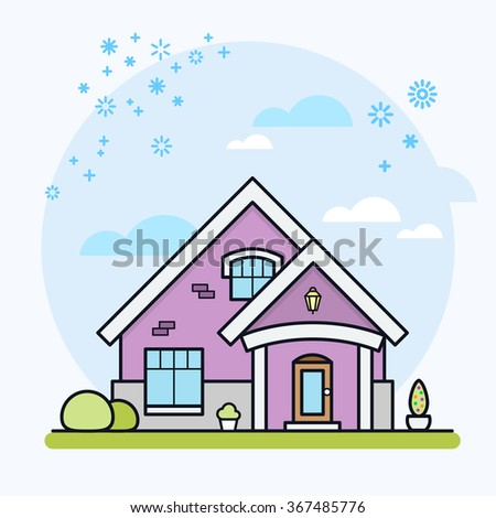 House vector illustration. House icon. Real estate. Eps 10. - stock vector