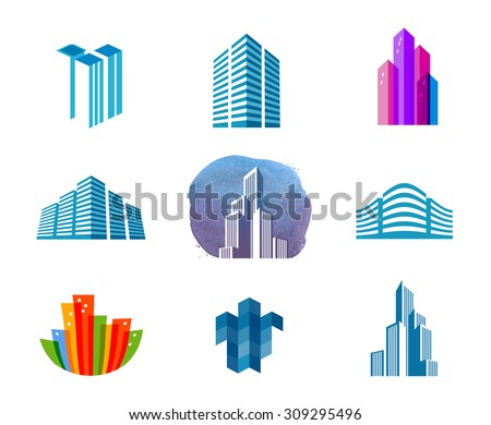 house vector logo design template. city or building icon - stock vector