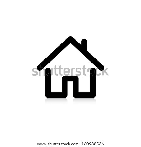 house with a pipe. icon. vector. eps10 - stock vector