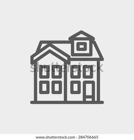 House Chimney Design house chimney icon thin line web stock vector 284706665 - shutterstock