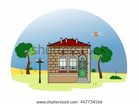 House with two windows