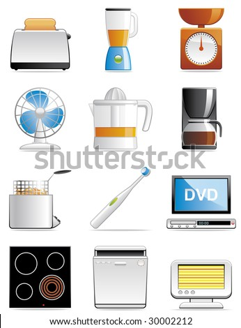 Household appliance icons