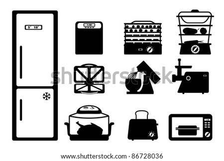 Household appliances - stock vector