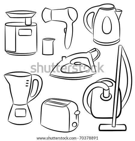 Household appliances. Vector illustration. - stock vector