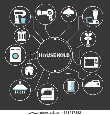 household mapping - stock vector