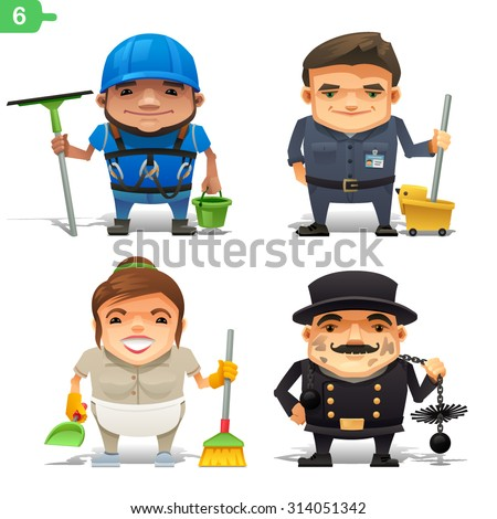 Housekeeping professions set