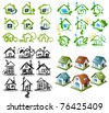 Houses icon collection - stock vector