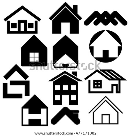 Houses icons set. Real estate. Vector illustration
